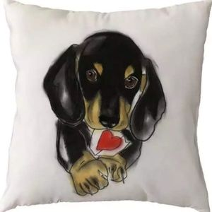 Pillow Cover- NEW- Dachshund Dog Love
